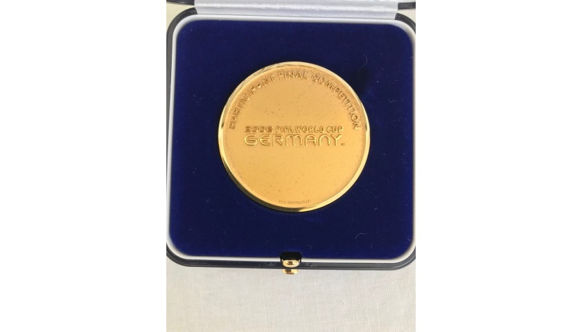 Official World Cup 2006 Medal - Signed by Fabio Cannavaro
