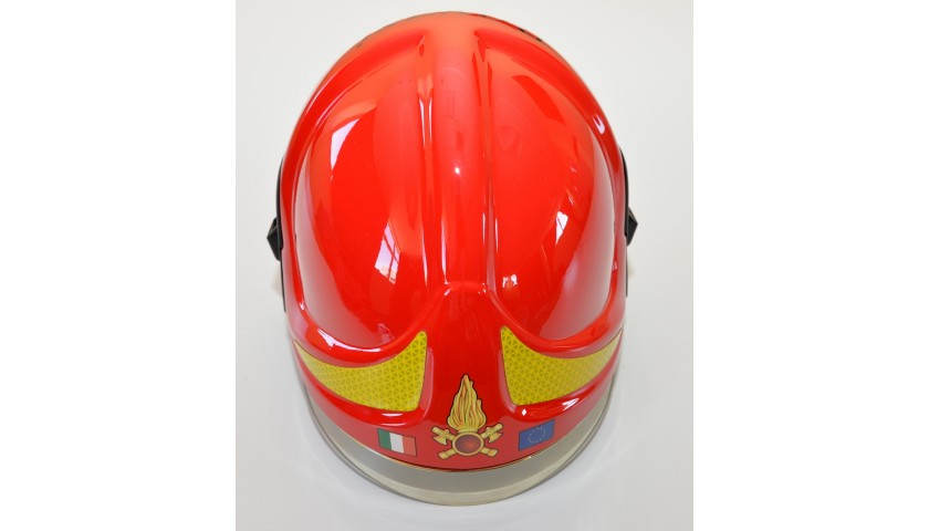 Original Italian Fire Brigade Helmet Personalized for Cardinal Ravasi