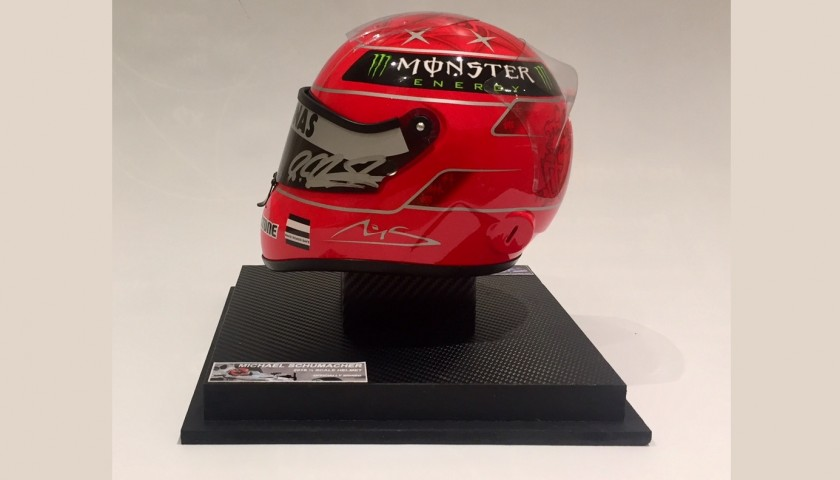 Michael Schumacher's Mercedes Signed Replica Helmet
