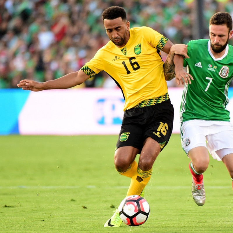 Miguel Layún Issued/Match Worn Shirt, Mexico-Jamaica 9/06/2016