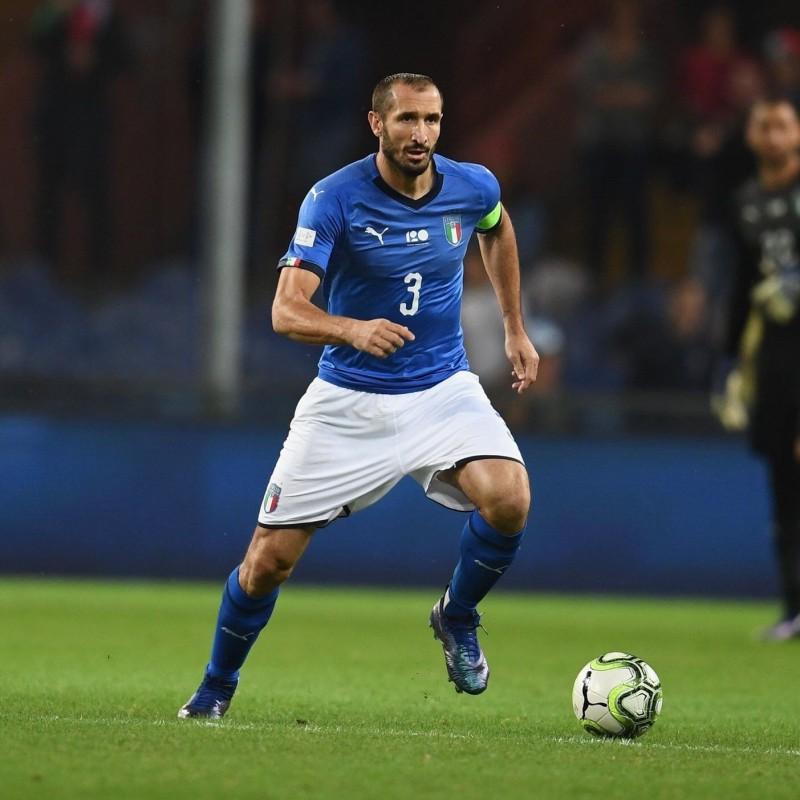 Chiellini's Match Shirt, Italy-Ukraine - Special Genoa Patch