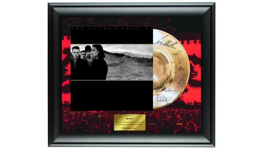 U2 Custom Framed Gold Record Display