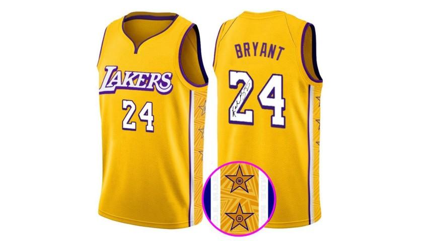 Kobe Bryant Lakers Jersey with Printed Signature - CharityStars