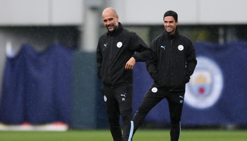 Manchester City PUMA 2019/20 Worn Training Kit, Five Piece - Pep Guardiola