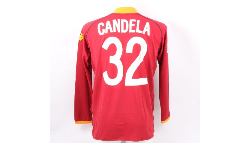 Candela's Roma Signed Match Shirt, 2002/03