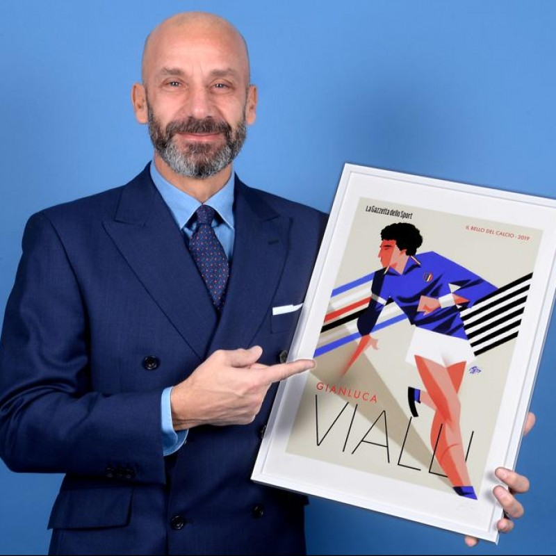 Gianluca Vialli Signed Print by Guasco