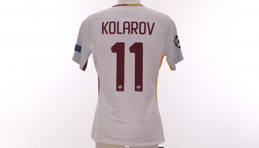 Kolarov's Worn Shirt, Chelsea-Roma CL 2017/18