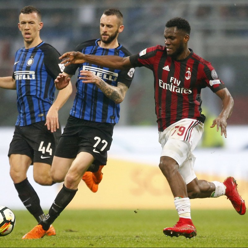Kessie's Match-Worn Milan-Inter Shirt with Special Patch - Unwashed