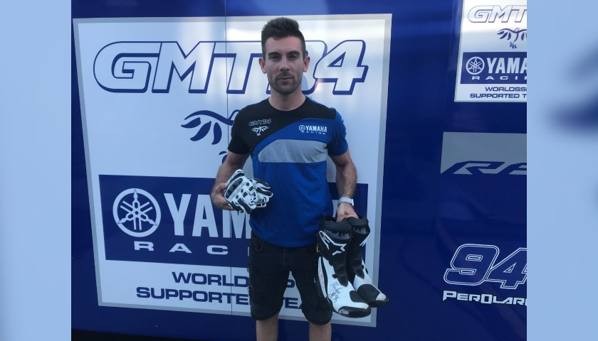 Racing Boots Worn and Signed by Corentin Perolari at Portimao