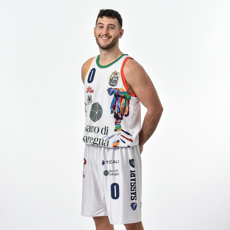 Spissu's Dinamo Sassari Worn and Signed Jersey, Final 8 2021