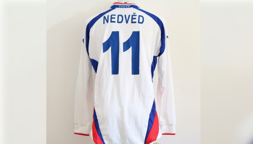 Nedved's Czech Republic Match-Issue Signed Shirt, 2000