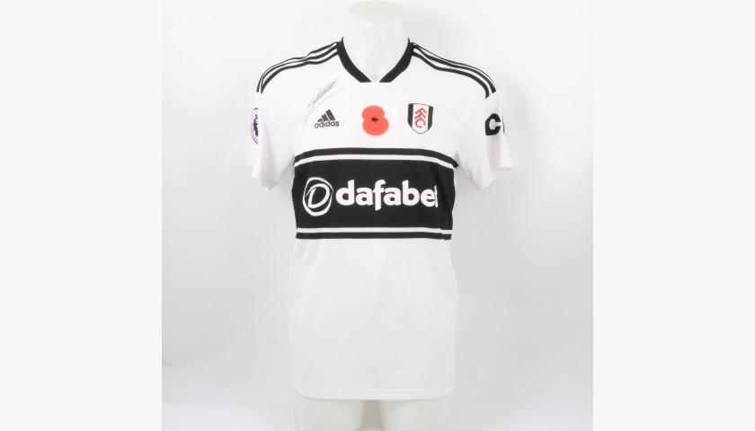 Chambers' Fulham Match-worn and Signed Poppy Shirt