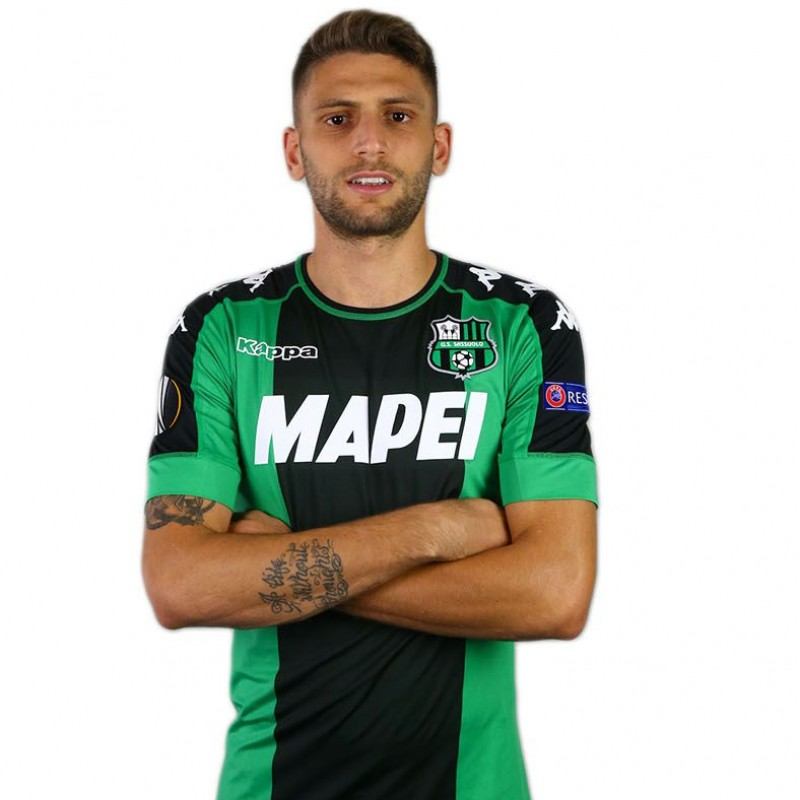 Official/Limited-Edition Sassuolo EL 2016/17 Shirt Signed by Berardi