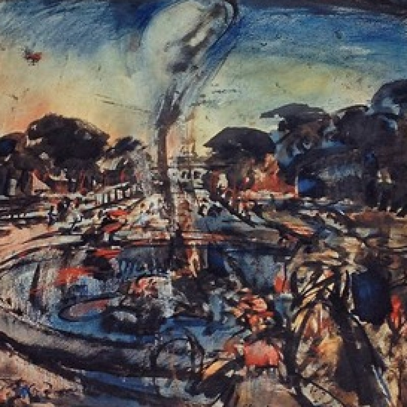 """""""Versailles"""" Original Lithograph by Georges Rouault"""