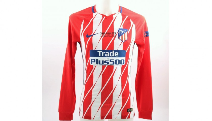 new product 2784e 4c749 Griezmann's Atletico Madrid Match-Issue EL 2018 Final Shirt - CharityStars