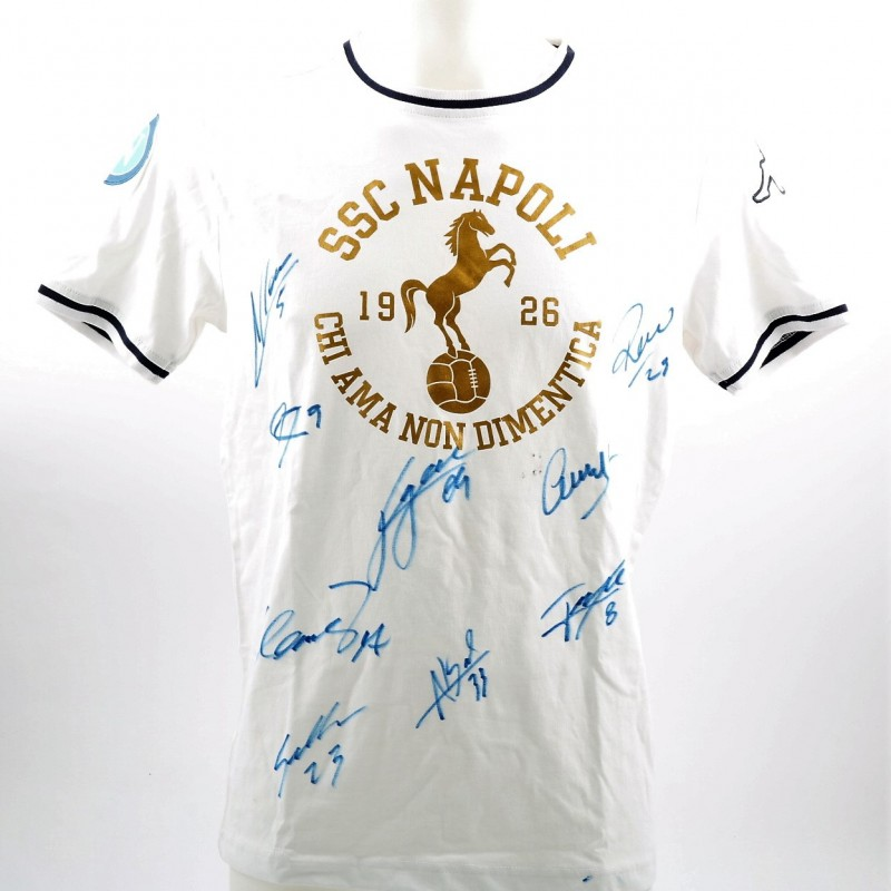 Official SSC Napoli 2015/16 T-Shirt - Signed by the Players