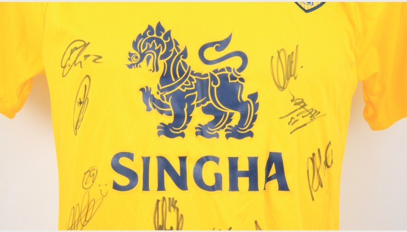 Oxford United Official Poppy Shirt Signed by the Team