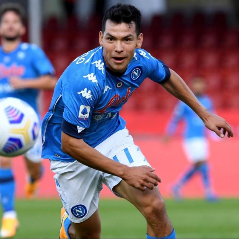 Lozano's Napoli Worn and Signed Shirt, 2020/21