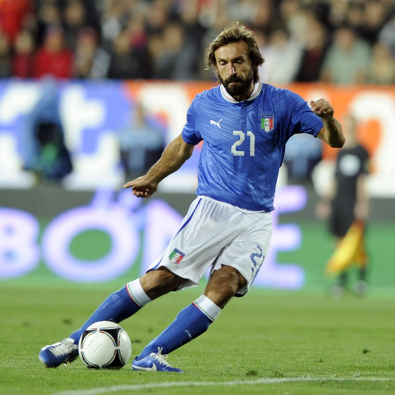 Official Italy Football Shirt, 2012 - Signed by Andrea Pirlo