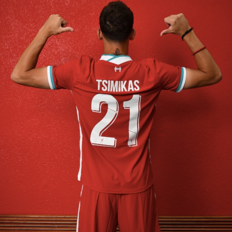 Tsimikas' Liverpool FC Match-Issued and Signed Shirt, Limited Edition 20/21