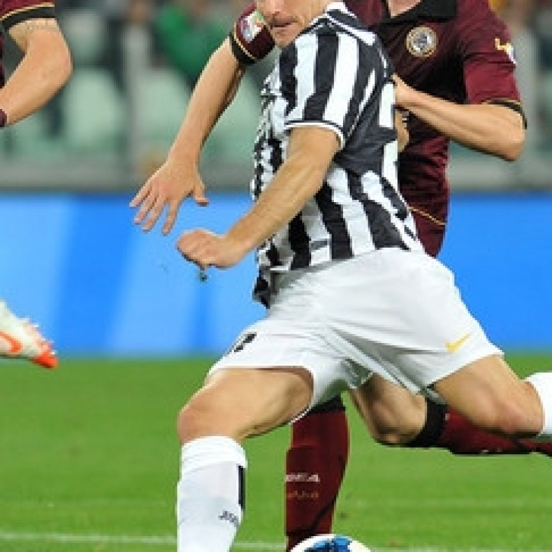Padoin Juventus match worn boots, Serie A 2013/2014