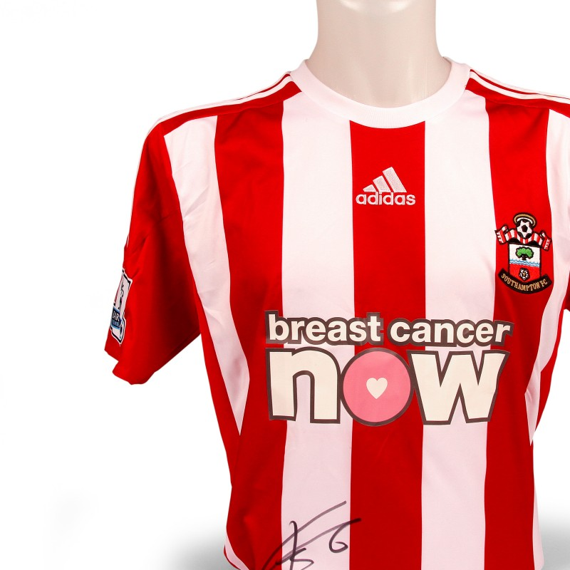 José Fonte's Limited Edition & Match Worn Breast Cancer Now Southampton Shirt