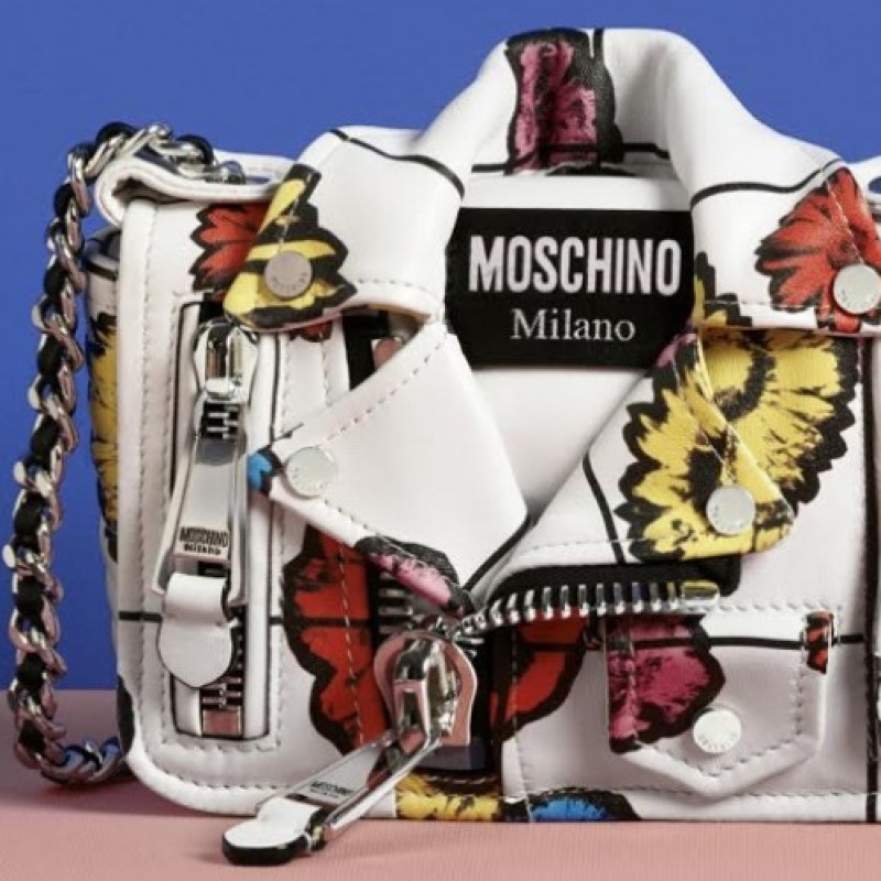 "Moschino ""Small Biker Jacket - Floral Print"""