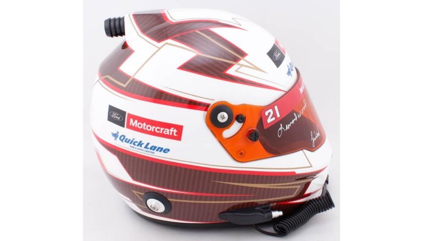Wood Brothers Signed NASCAR Helmet