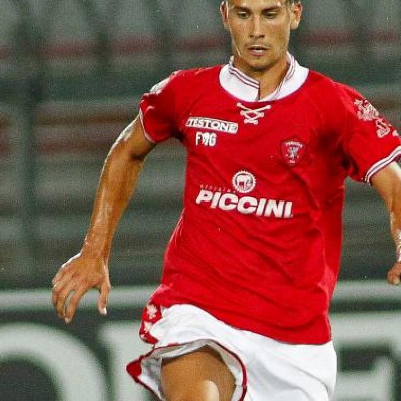 Goldaniga's Perugia match issued shirt, Serie B 2014/2015 - signed