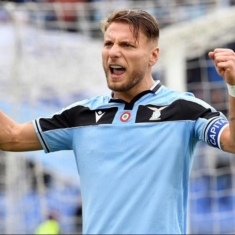 Immobile's Lazio Match Shirt, 2019/20 - Signed by the Players + Lazio Match for 2 People