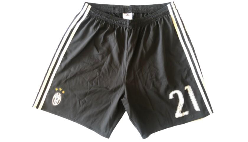 Juventus Match Shorts, 2016/17 - Signed by Dybala and Buffon