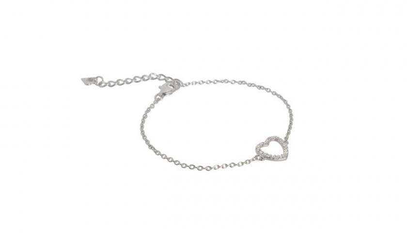 Collana e Bracciale con zirconi in argento di Luxanty