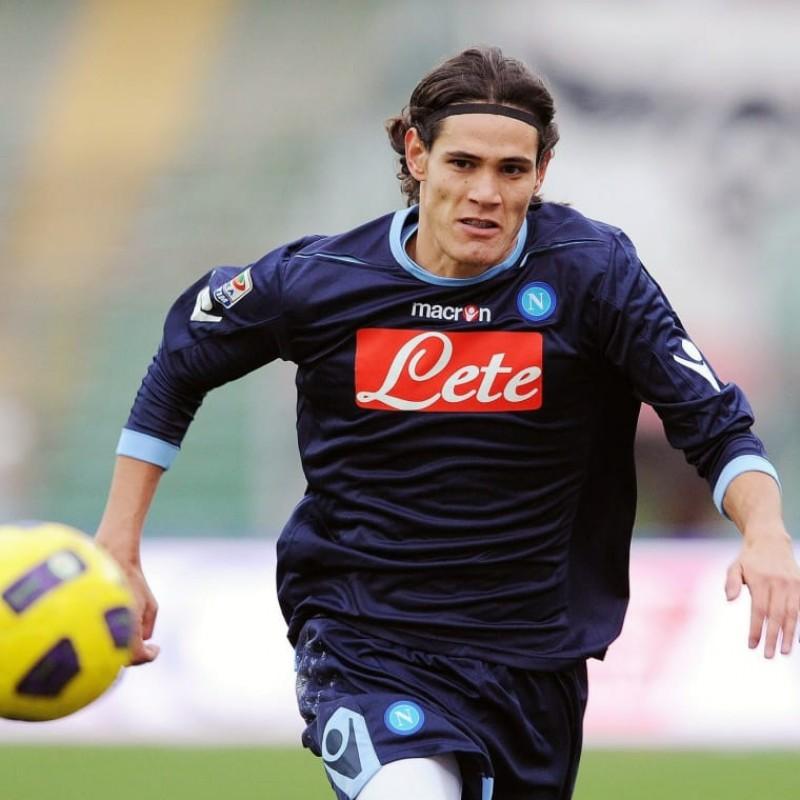 Cavani's Napoli Worn and Signed Shirt, 2010/11 Season