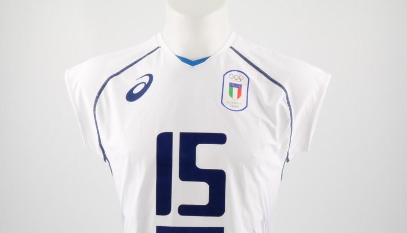 Match worn Del Core shirt, Rio 2016 - signed