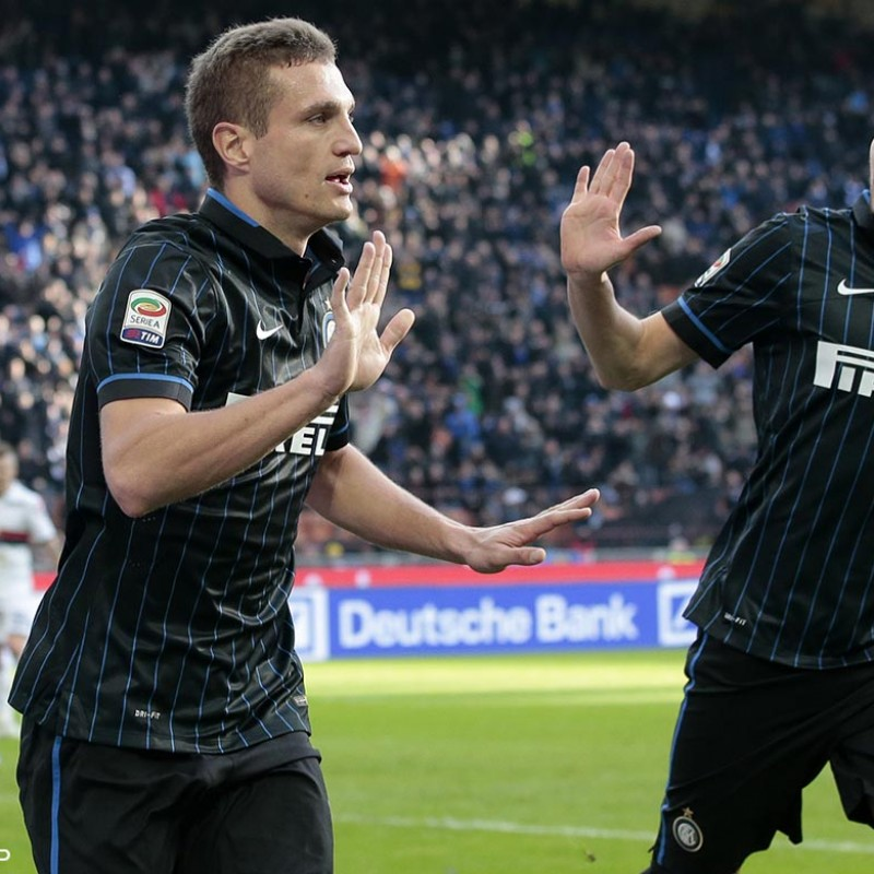 Vidic's Match-Issued/Worn Inter Shirt, Serie A 2014/15