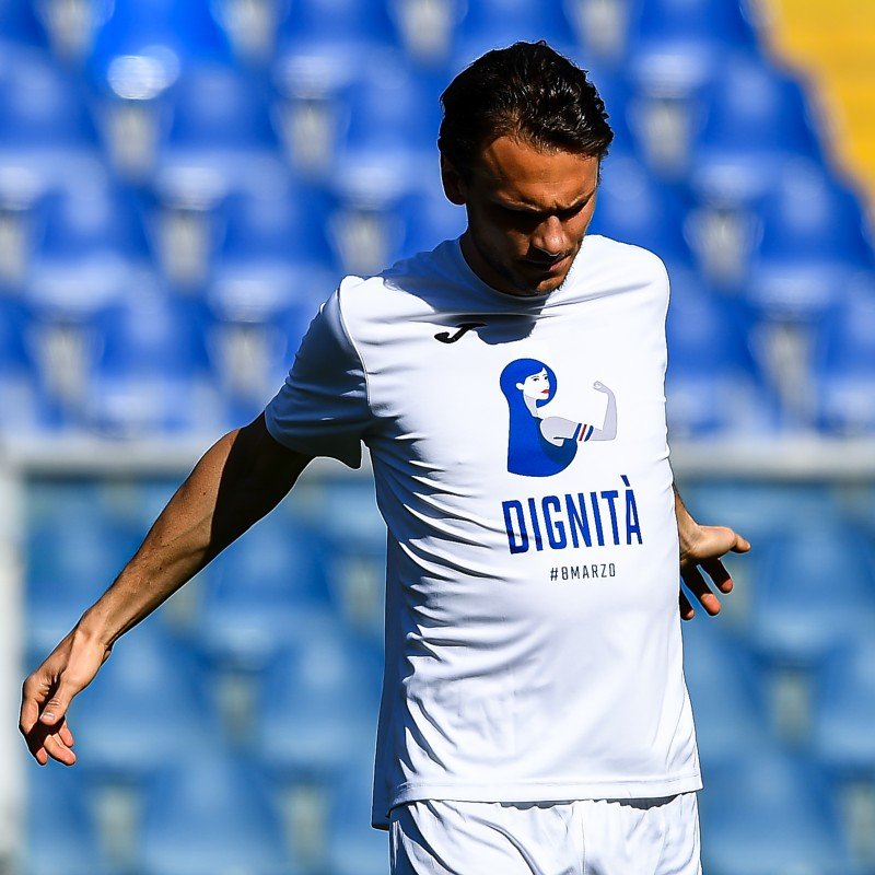 Ekdal's Worn T-Shirt, Sampdoria-Hellas Verona, Special #8march
