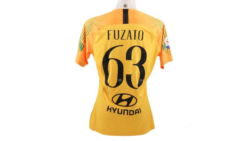 Fuzato's Worn and Signed Shirt, Roma-Genoa 2018