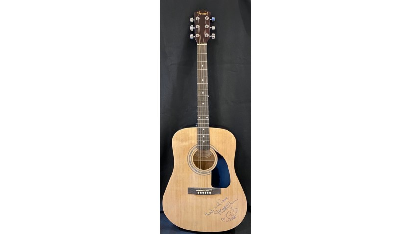 Phil Collins Guitar with Signature and Special Drawing