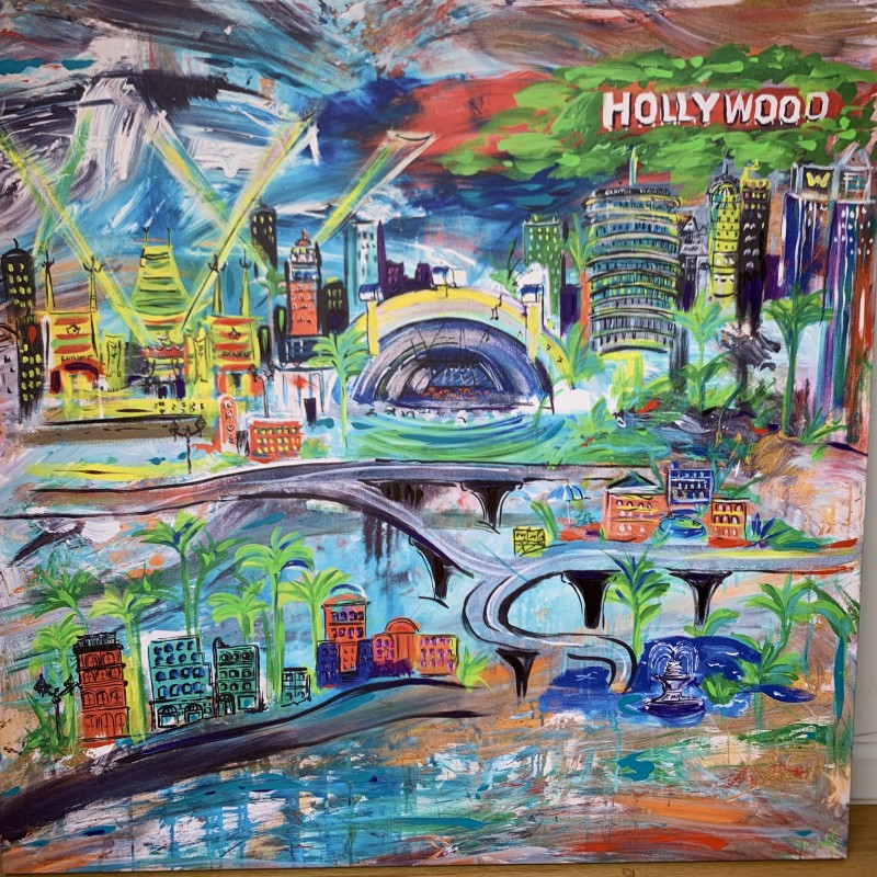 Abstract Hollywood Painting by JD Schultz