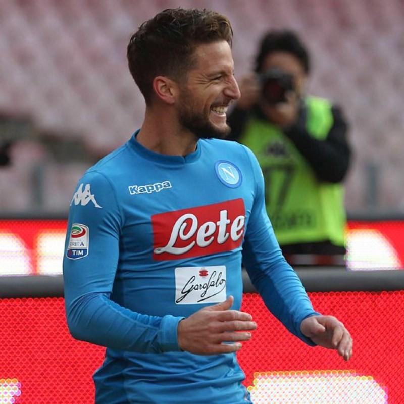 Mertens' Napoli Worn and Signed Shirt, 2017/18