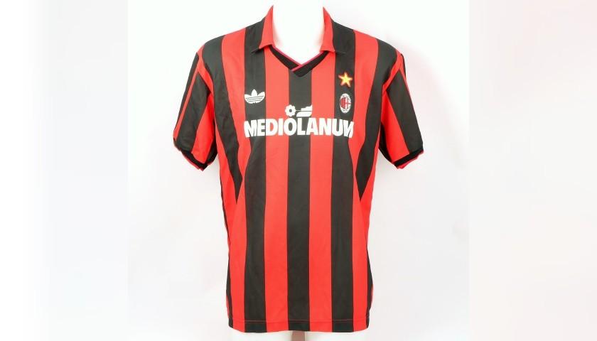 Maldini's Milan Worn Shirt, 1991/92