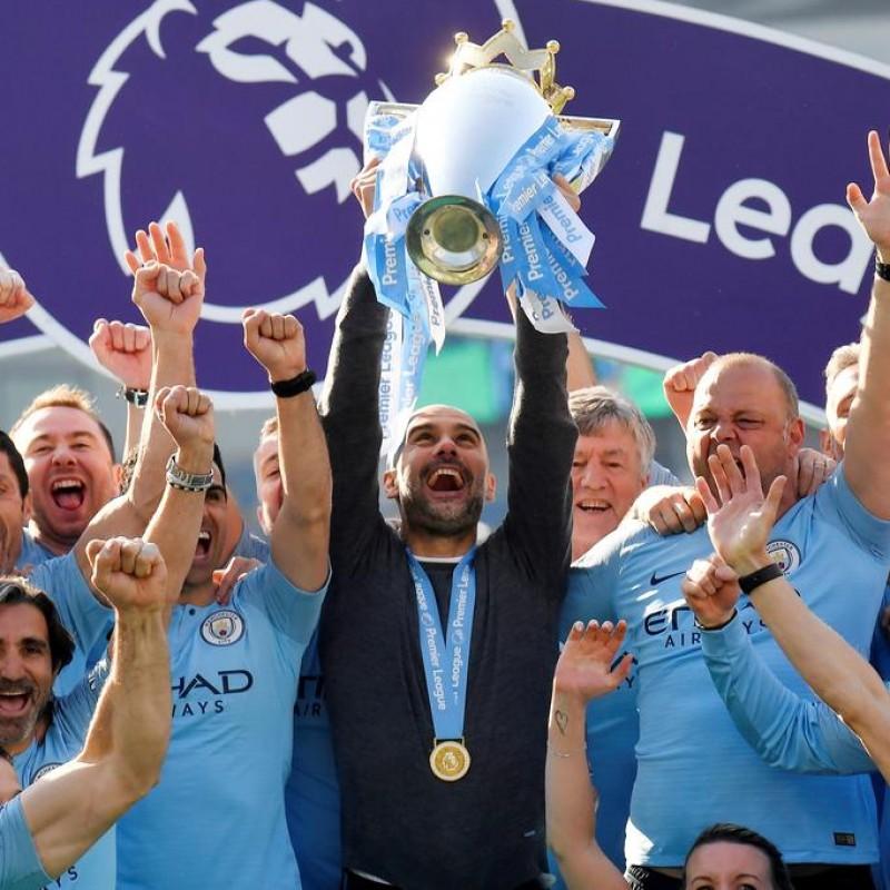 Man City 2019 Champions Shirt - Signed by Guardiola