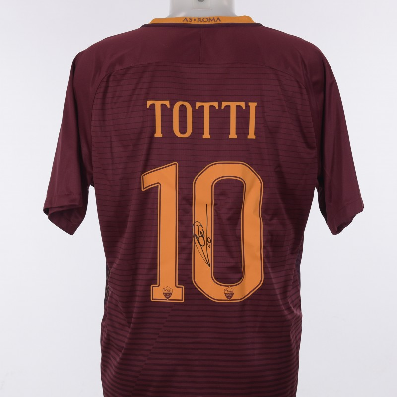 Francesco Totti's Roma Signed Shirt,  16/17