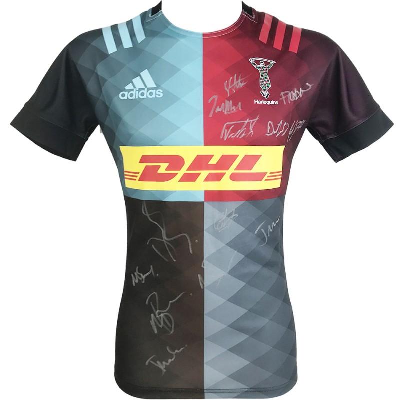 Harlequins Signed Shirt - Premiership Squad Jersey 2021