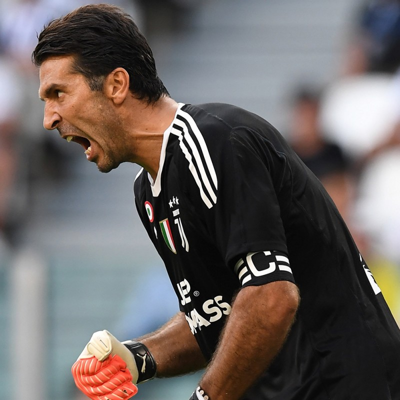Buffon's Signed Match-Issued 2017/18 Captain Armband