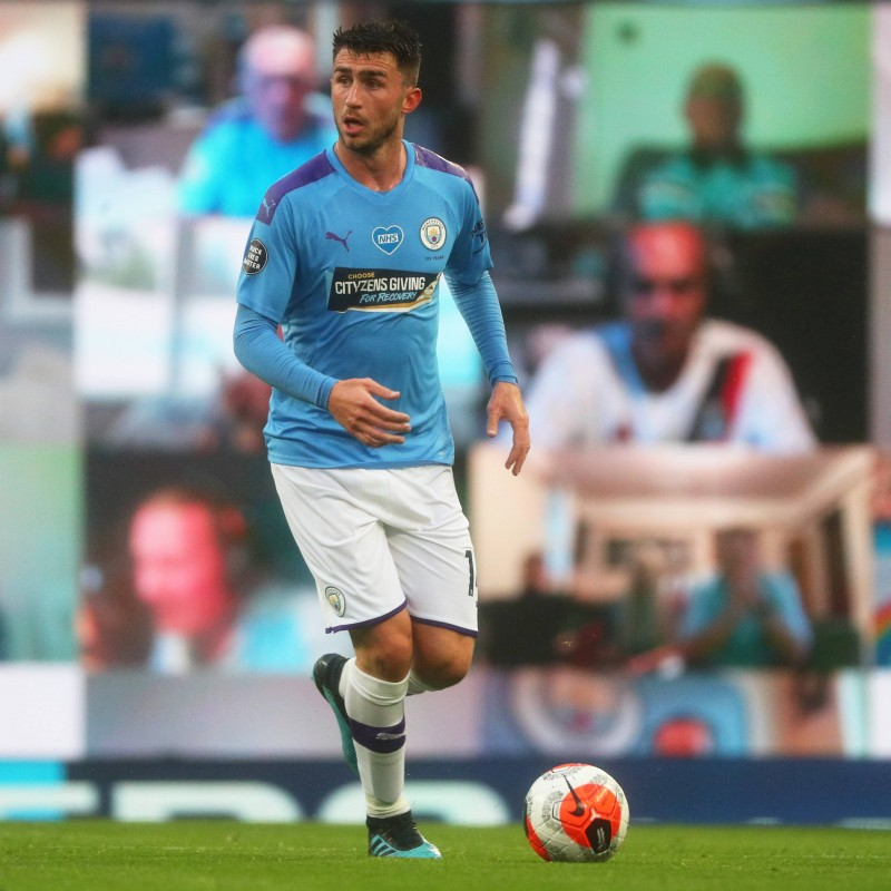Cityzens Giving for Recovery Match Issued Shirt Signed by Aymeric Laporte