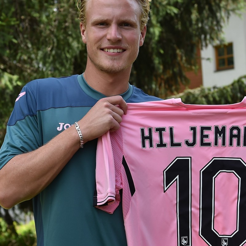 Palermo shirt celebrating new player Hiljemark - signed