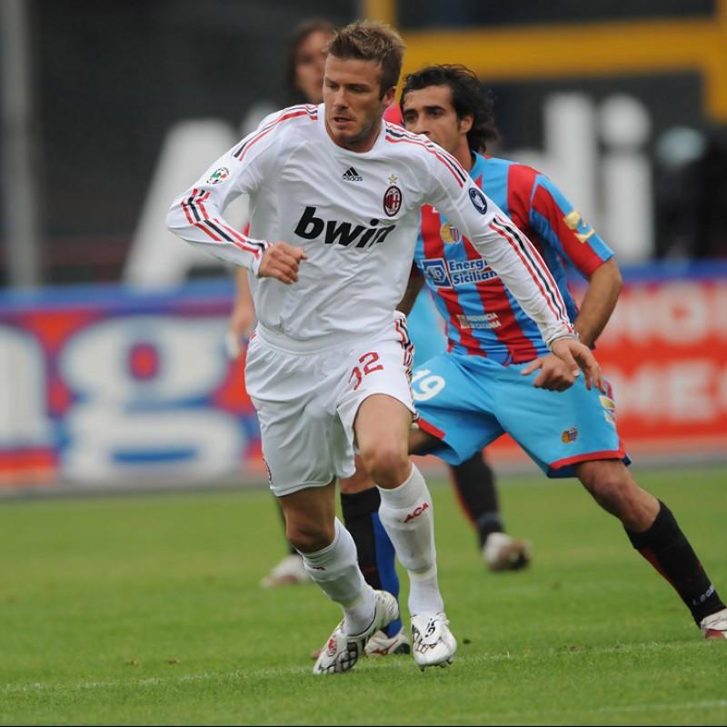 Beckham's Worn and Unwashed Shirt, Catania-AC Milan 2009