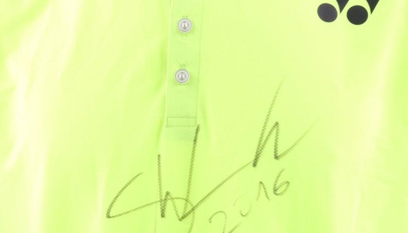 Monte Carlo 2016 Wawrinka match worn shirt - signed