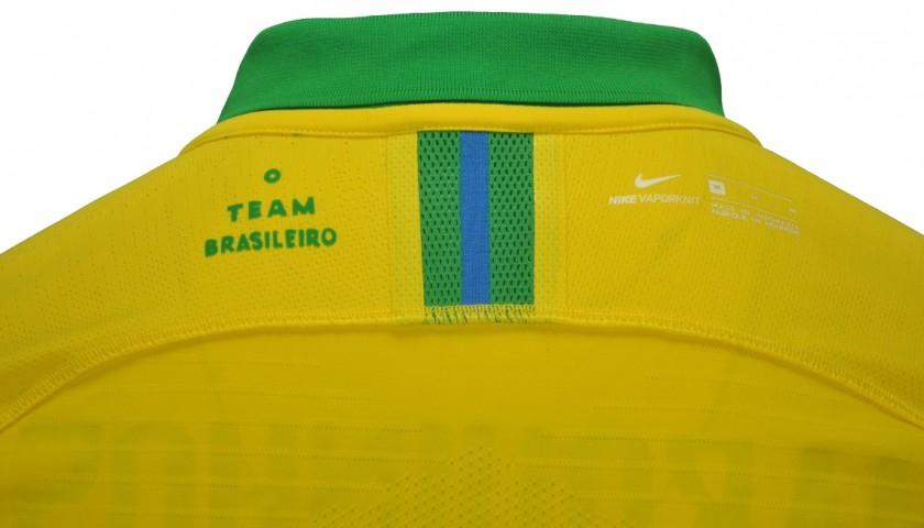 Marquinhos's Brazil Signed Match Shirt, 2020
